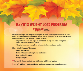 Rx/B12 Weight Loss Program